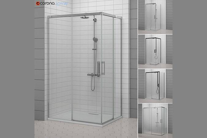 cabin showers radaway idea 3d model max obj mtl 3ds mat 1