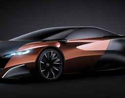 3D Peugeot Onyx Concept - IGES model