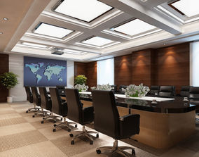 3D Conference Room Scene 02