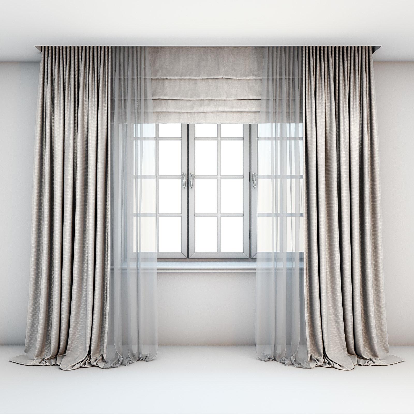 Light beige curtains
