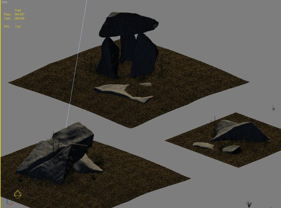 Granite Outcrops Miniscenes 3d Model Max Obj 3ds Fbx