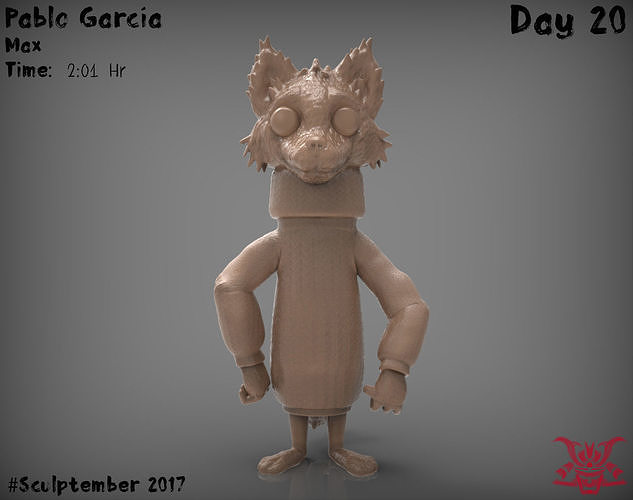 max the wolf 3d model obj mtl ztl 1