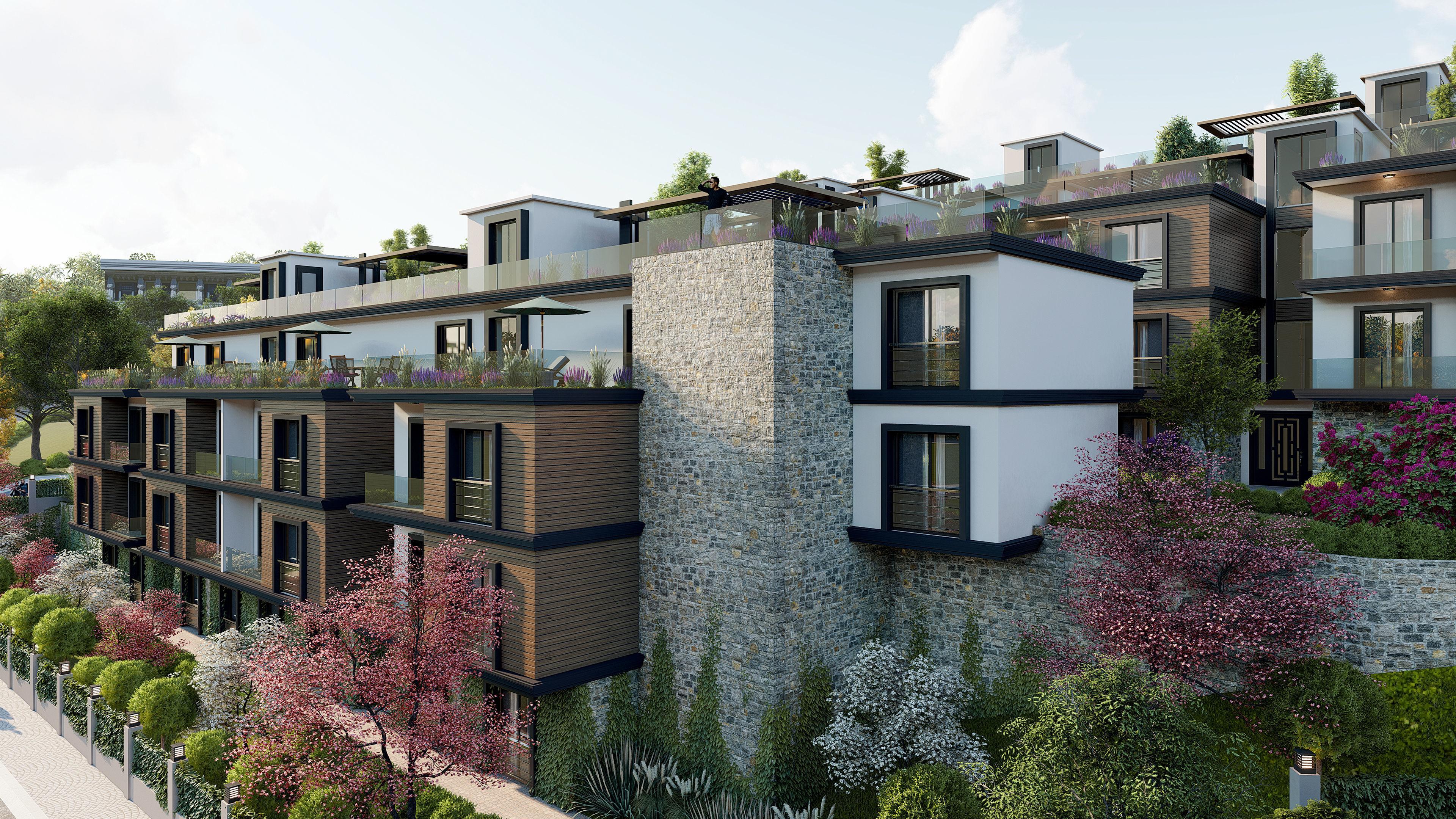 Terrace House High Quality Exterior Scene Lumion 8 | 3D model