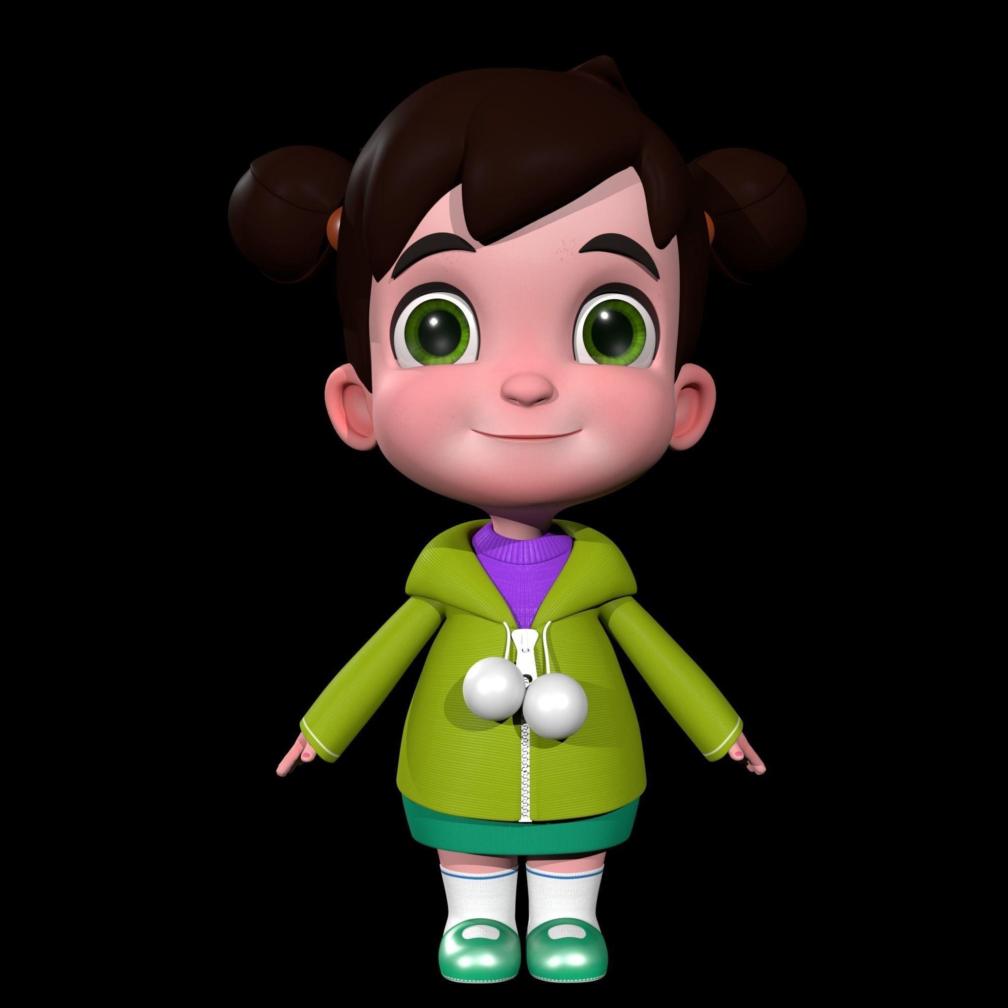 Character 3d Cartoon Girl Cgtrader