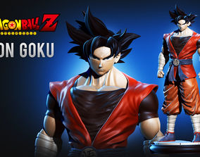 3D print model Son Goku Dragonball Fanart cartoon-man