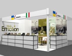 3D Exhibition stand Shoe booth