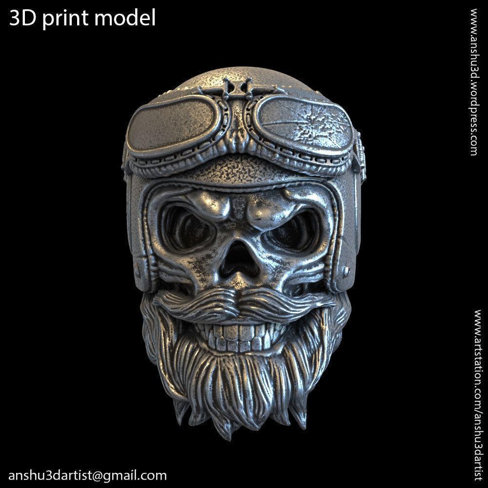 biker helmet skull vol2 pendant jewelry