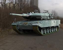 3d model leopard ii tank rigged