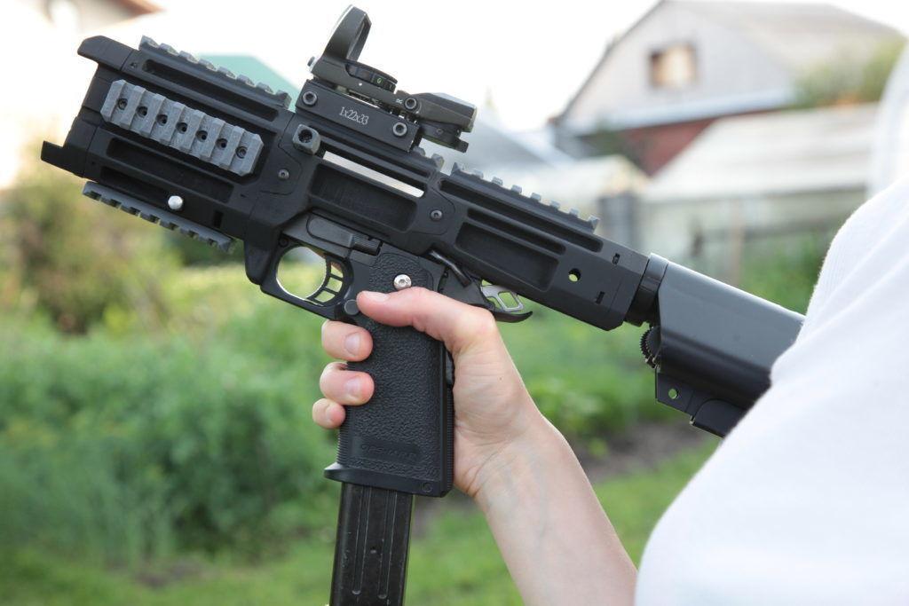 Hi-Capa 1911 airsoft pistol PDW carbine conversion kit | 3D Print Model