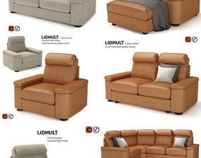 3D model Set of furniture IKEA LIDHULT