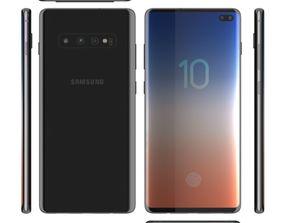 Samsung Galaxy S10 plus 3D model star