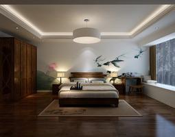 3D model Minimalistic bedroom interior