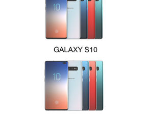 3D model Galaxy S10 and S10 Plus All Color