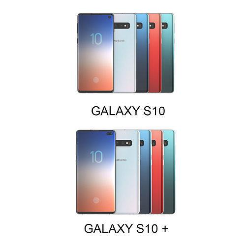 galaxy s10 and s10 plus all color 3d model max obj mtl 3ds fbx c4d lwo lw lws 1