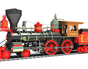 Steam Locomotive railroad 3D