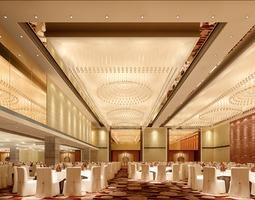 3D model textile Huge banquet hall