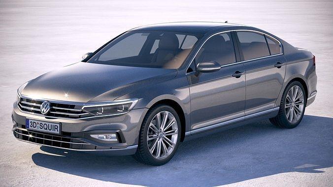 volkswagen passat 2020 3d model max obj mtl 3ds fbx c4d lwo lw lws 1