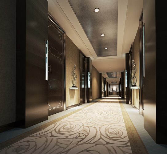3D Huge Corridor Lobby