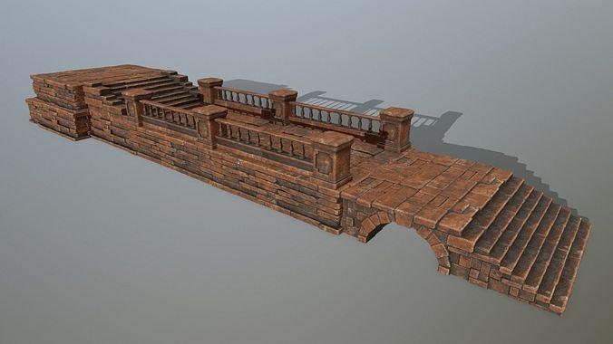 ruin set 3d model low-poly obj mtl 1