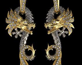 3D print model earrings Carrera y Carrera