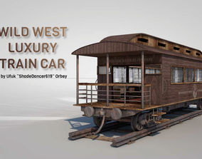 3D model Wild West Luxury Train Car