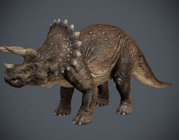 3d animated triceratops