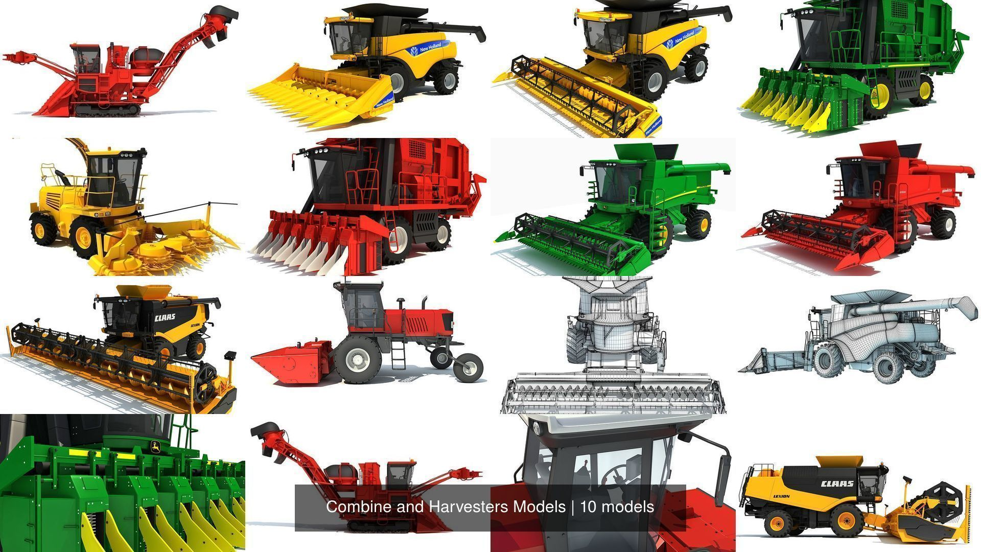 Combine and Harvesters Models