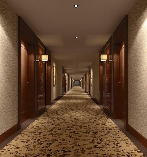 Hotel corridor 3d model drum cgtrader - Schilderij model corridor ...