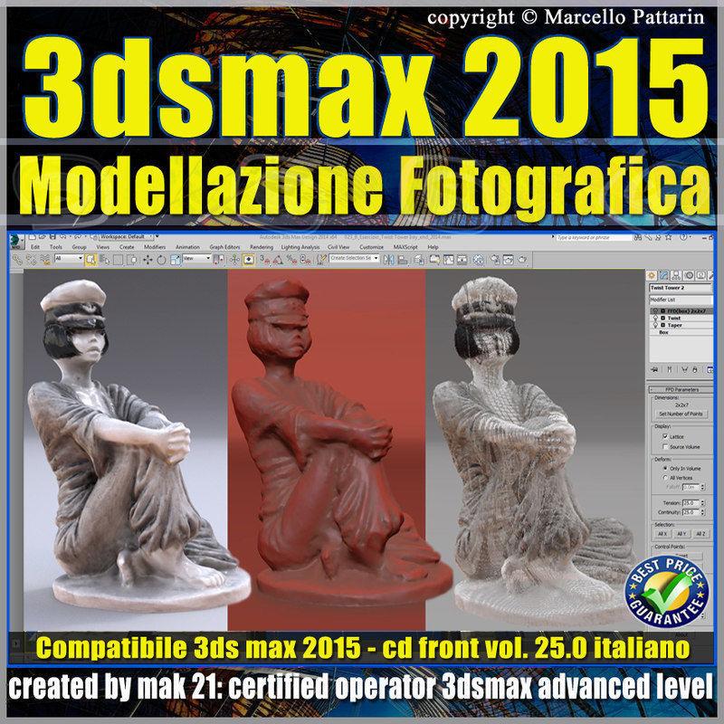 3ds max 2015 Modellazione Fotografica vol 25 CD front
