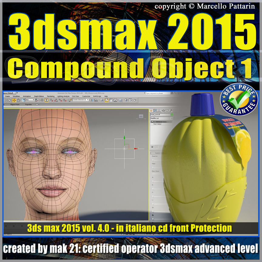 3ds max 2015 Compound Object 1 volume 4 Italiano cd front