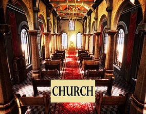 3D asset Church for Unreal