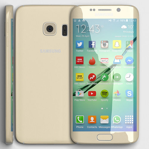 3D model Samsung Galaxy S6 Edge | CGTrader