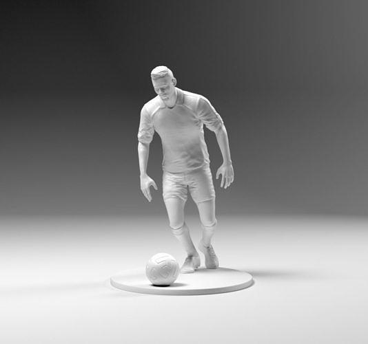 footballer 03 prepare to footstrike 03 stl 3d model obj mtl stl 3mf 1