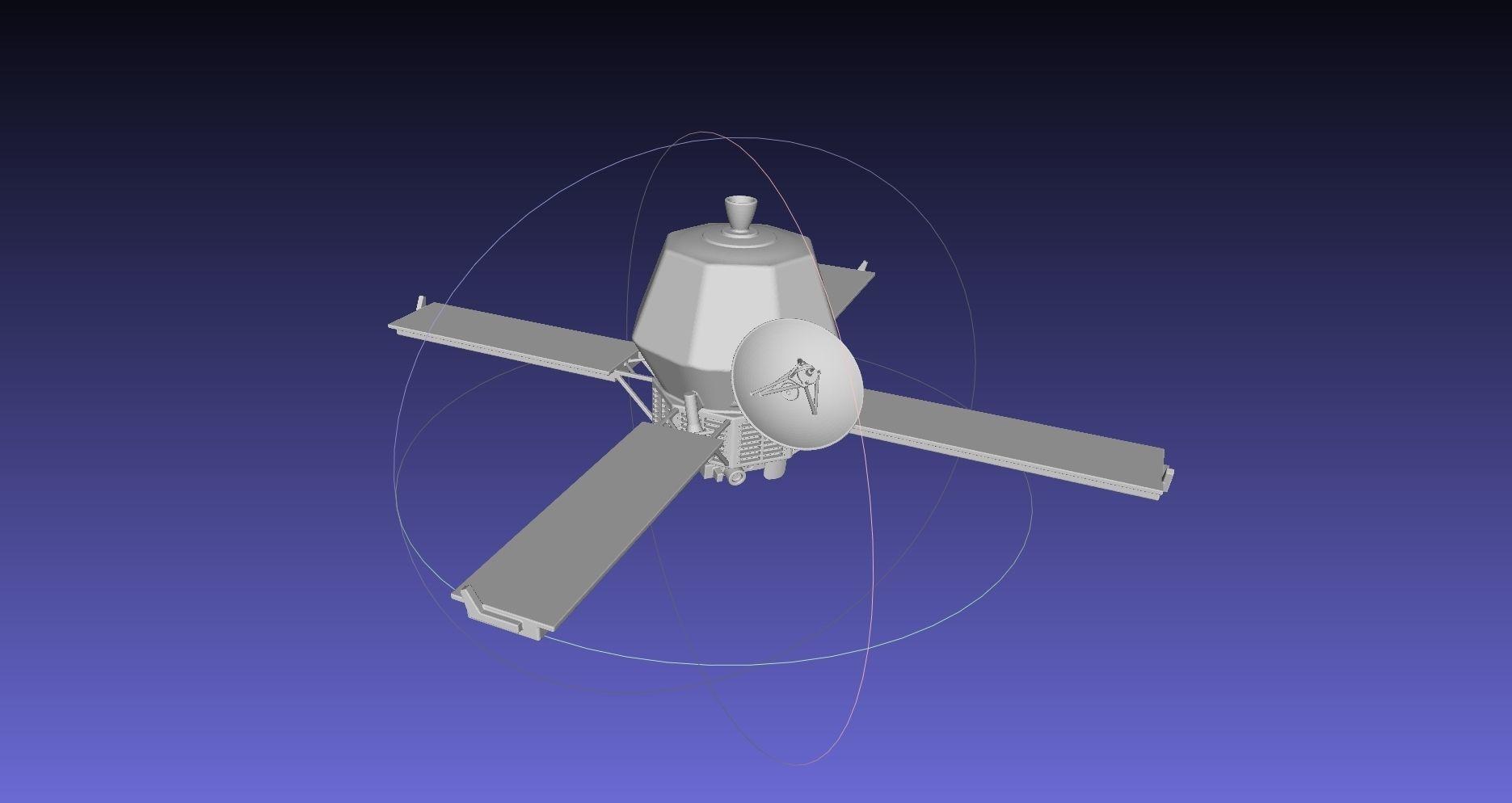 Mariner 9 Mars Probe Basic Printable Model