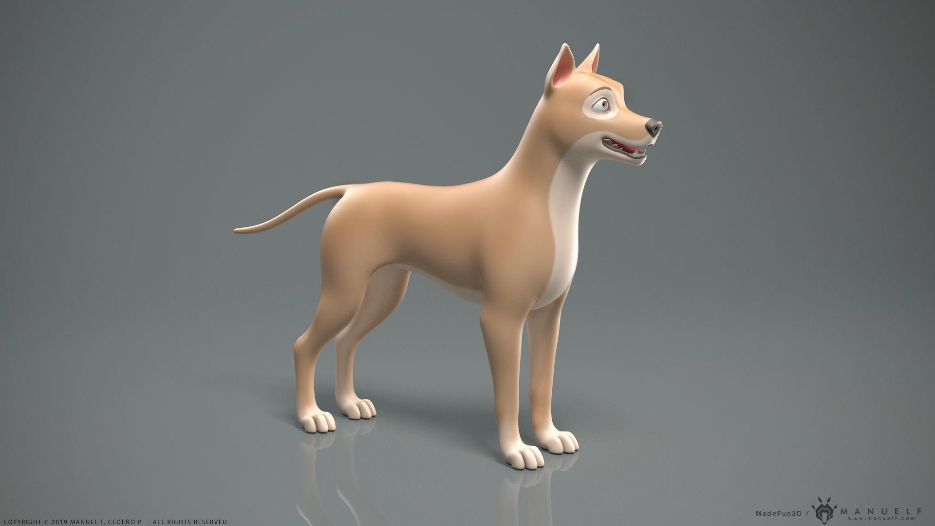 Stylized Cartoon Dog