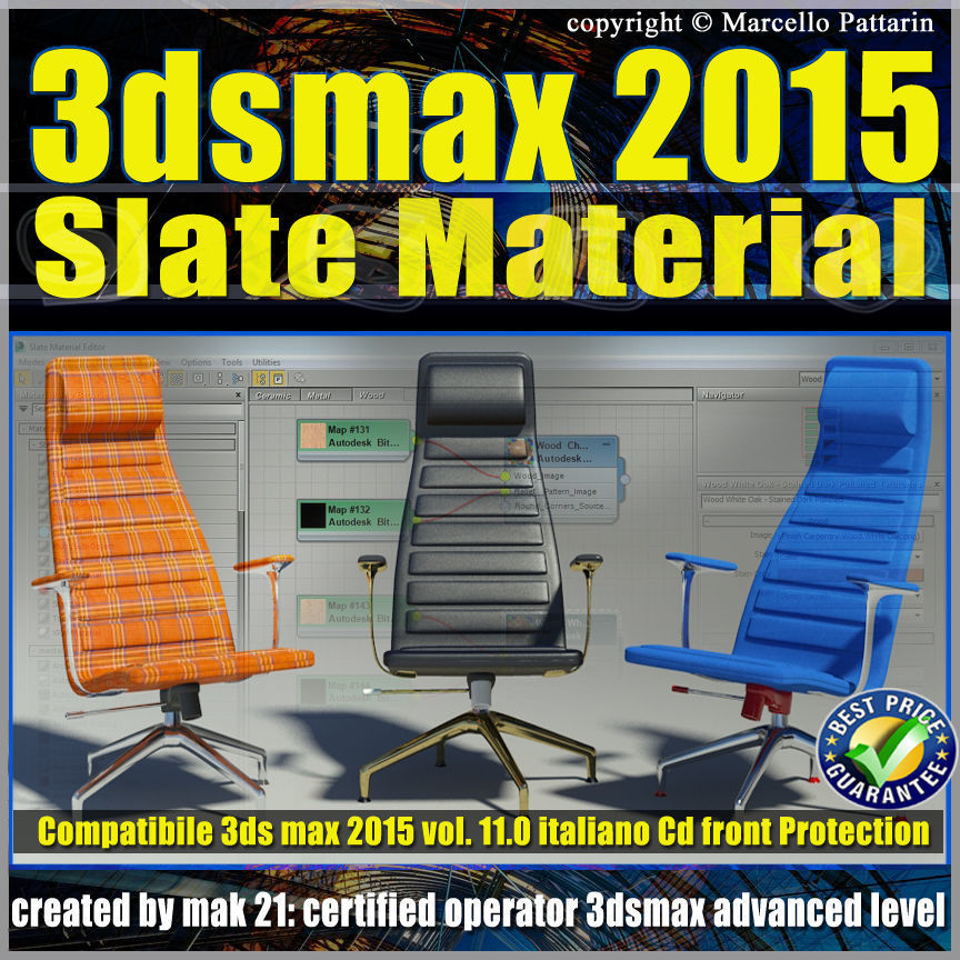 3ds max 2015 Slate Material v 11 Italiano cd front