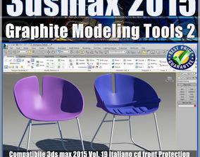 3ds max 2015 Graphite Modeling Tools 2 vol 19 cd front