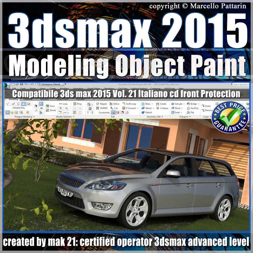 3ds max 2015 Object Paint vol 21 cd front