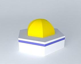 3D Golden Dome Mosque