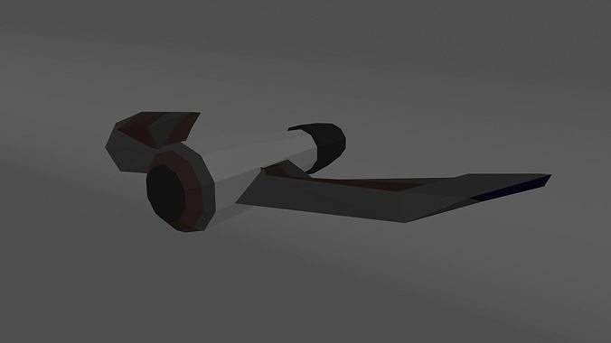 spy spaceship 3d model low-poly obj mtl 3ds fbx blend 1