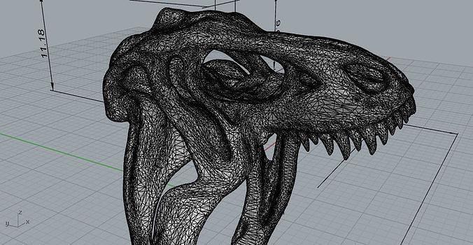 t-rex ring 3d model obj mtl 3ds fbx stl 3dm 1