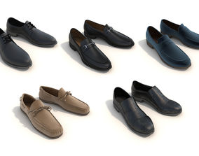 Men Shoes Collection Set 3 3D model