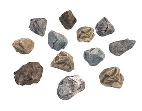 Stone and rock set 3D
