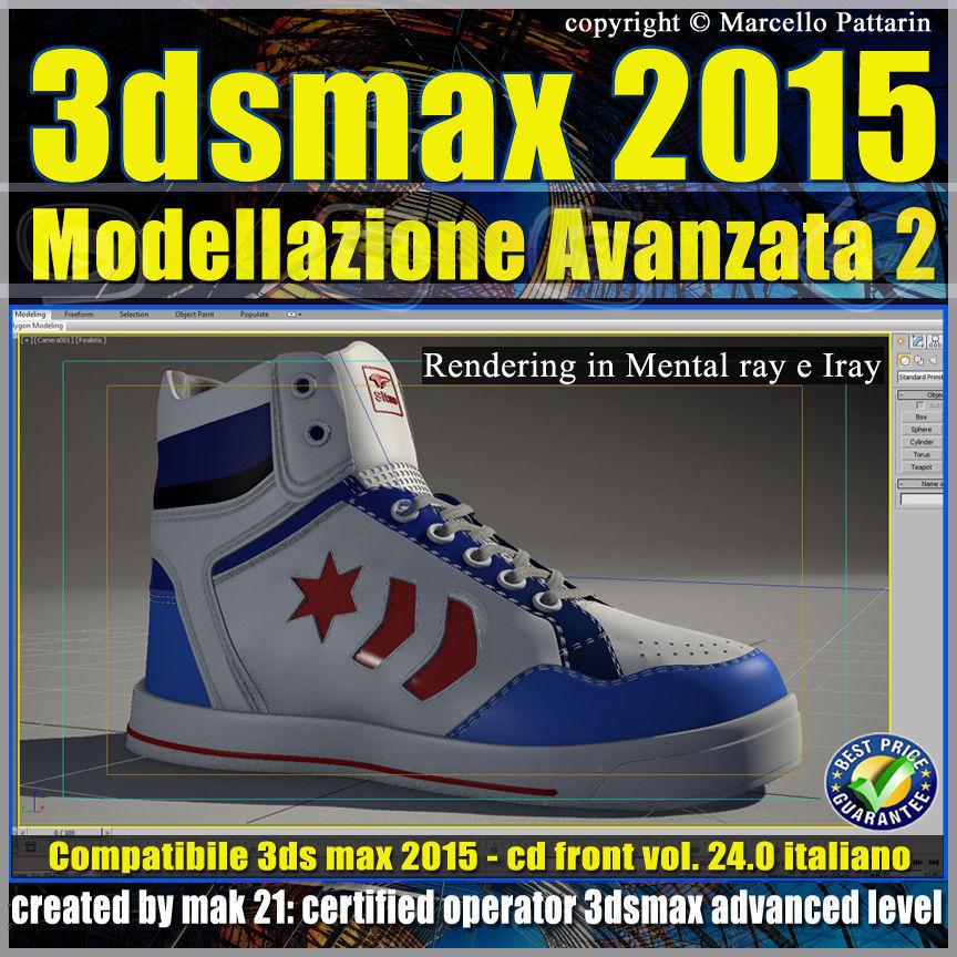 3ds max 2015 Modellazione Avanzata 2 v 24 Italiano cd front