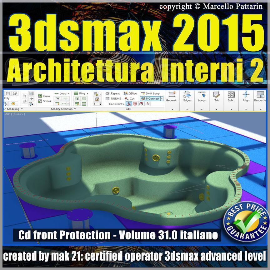 Video Corso 3ds max 2015 Architettura Interni vol 32 cd front