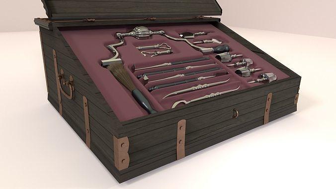 medieval instruments for trepanation 3d model obj mtl 3ds fbx blend 1
