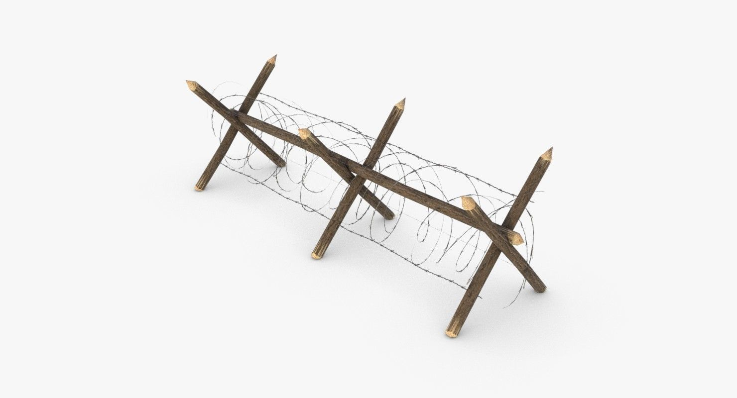 Barbed wire fence WWII