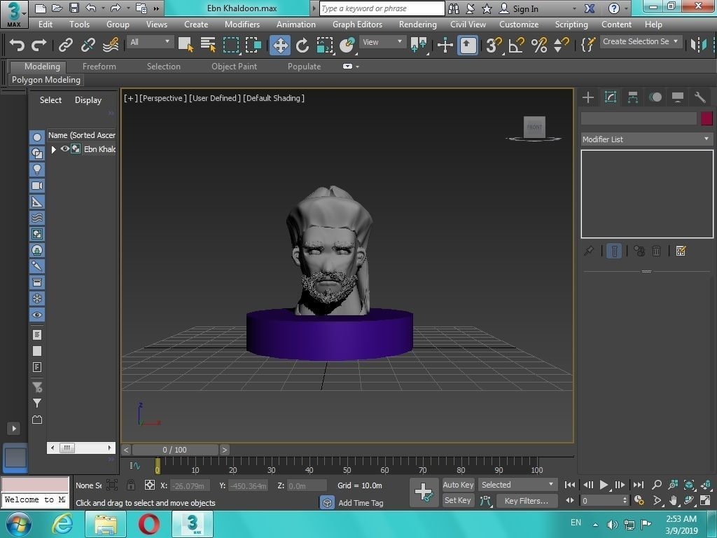 Arabian Head figure for 3D print