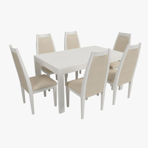 3d Modern Dining Table With Chairs Cgtrader