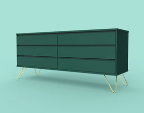3D model Elona Wide Chest Of Drawers